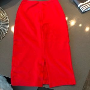 American Apparel Skirts - American Apparel High Waisted Pencil Skirt Red